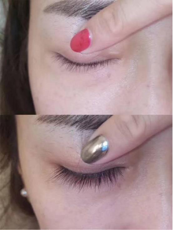 睫毛效果对比
